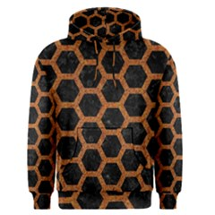 HEXAGON2 BLACK MARBLE & RUSTED METAL (R) Men s Pullover Hoodie