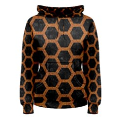 HEXAGON2 BLACK MARBLE & RUSTED METAL (R) Women s Pullover Hoodie