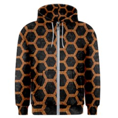 HEXAGON2 BLACK MARBLE & RUSTED METAL (R) Men s Zipper Hoodie