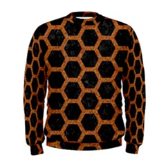 HEXAGON2 BLACK MARBLE & RUSTED METAL (R) Men s Sweatshirt