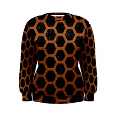 HEXAGON2 BLACK MARBLE & RUSTED METAL (R) Women s Sweatshirt