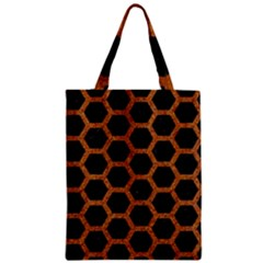 HEXAGON2 BLACK MARBLE & RUSTED METAL (R) Zipper Classic Tote Bag