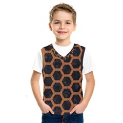 HEXAGON2 BLACK MARBLE & RUSTED METAL (R) Kids  SportsWear