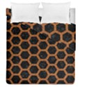 HEXAGON2 BLACK MARBLE & RUSTED METAL (R) Duvet Cover Double Side (Queen Size) View1