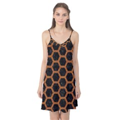 HEXAGON2 BLACK MARBLE & RUSTED METAL (R) Camis Nightgown