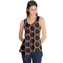 HEXAGON2 BLACK MARBLE & RUSTED METAL (R) Sleeveless Tunic