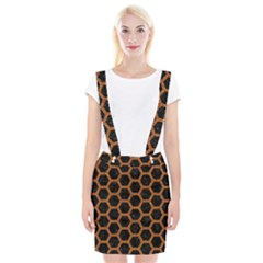 HEXAGON2 BLACK MARBLE & RUSTED METAL (R) Braces Suspender Skirt