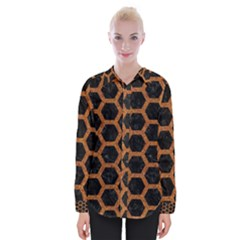 HEXAGON2 BLACK MARBLE & RUSTED METAL (R) Womens Long Sleeve Shirt
