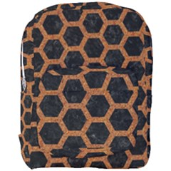 Hexagon2 Black Marble & Rusted Metal (r) Full Print Backpack by trendistuff
