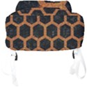 HEXAGON2 BLACK MARBLE & RUSTED METAL (R) Full Print Backpack View4