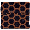 HEXAGON2 BLACK MARBLE & RUSTED METAL (R) Back Support Cushion View4