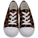 HEXAGON2 BLACK MARBLE & RUSTED METAL (R) Kids  Low Top Canvas Sneakers View1