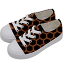 HEXAGON2 BLACK MARBLE & RUSTED METAL (R) Kids  Low Top Canvas Sneakers View2