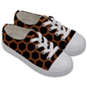 HEXAGON2 BLACK MARBLE & RUSTED METAL (R) Kids  Low Top Canvas Sneakers View3