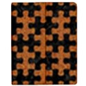PUZZLE1 BLACK MARBLE & RUSTED METAL Apple iPad 2 Flip Case View1