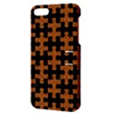 PUZZLE1 BLACK MARBLE & RUSTED METAL Apple iPhone 5 Hardshell Case with Stand View3