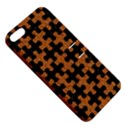 PUZZLE1 BLACK MARBLE & RUSTED METAL Apple iPhone 5 Hardshell Case with Stand View5