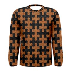 Puzzle1 Black Marble & Rusted Metal Men s Long Sleeve Tee