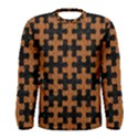 PUZZLE1 BLACK MARBLE & RUSTED METAL Men s Long Sleeve Tee View1