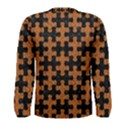 PUZZLE1 BLACK MARBLE & RUSTED METAL Men s Long Sleeve Tee View2