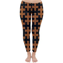 Puzzle1 Black Marble & Rusted Metal Classic Winter Leggings by trendistuff
