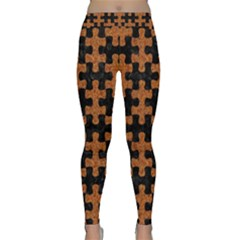 Puzzle1 Black Marble & Rusted Metal Classic Yoga Leggings