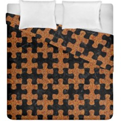 Puzzle1 Black Marble & Rusted Metal Duvet Cover Double Side (king Size) by trendistuff
