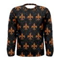 ROYAL1 BLACK MARBLE & RUSTED METAL Men s Long Sleeve Tee View1