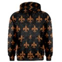 ROYAL1 BLACK MARBLE & RUSTED METAL Men s Pullover Hoodie View1