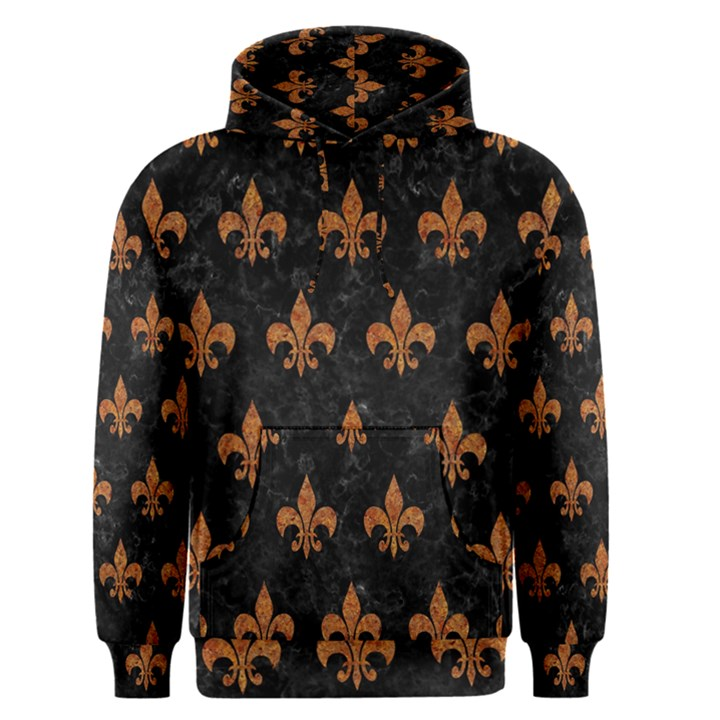 ROYAL1 BLACK MARBLE & RUSTED METAL Men s Pullover Hoodie