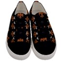 ROYAL1 BLACK MARBLE & RUSTED METAL Men s Low Top Canvas Sneakers View1