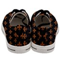 ROYAL1 BLACK MARBLE & RUSTED METAL Men s Low Top Canvas Sneakers View4
