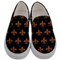 ROYAL1 BLACK MARBLE & RUSTED METAL Men s Canvas Slip Ons View1