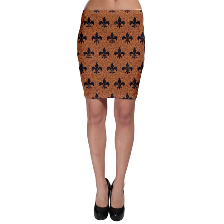 ROYAL1 BLACK MARBLE & RUSTED METAL (R) Bodycon Skirt