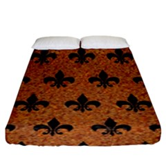 Royal1 Black Marble & Rusted Metal (r) Fitted Sheet (king Size) by trendistuff