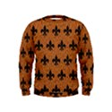 ROYAL1 BLACK MARBLE & RUSTED METAL (R) Kids  Sweatshirt View1