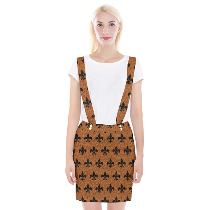 ROYAL1 BLACK MARBLE & RUSTED METAL (R) Braces Suspender Skirt