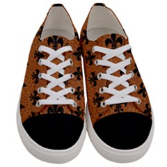 Royal1 Black Marble & Rusted Metal (r) Women s Low Top Canvas Sneakers