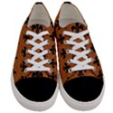 ROYAL1 BLACK MARBLE & RUSTED METAL (R) Women s Low Top Canvas Sneakers View1