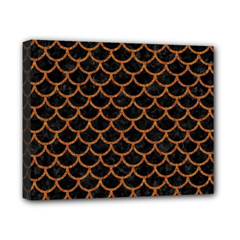 Scales1 Black Marble & Rusted Metal (r) Canvas 10  X 8  by trendistuff