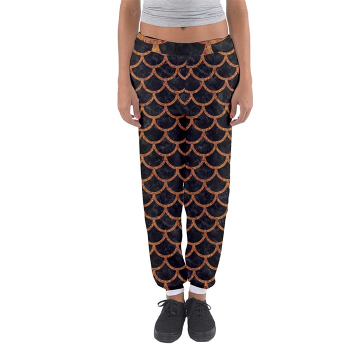 SCALES1 BLACK MARBLE & RUSTED METAL (R) Women s Jogger Sweatpants
