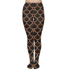 Scales1 Black Marble & Rusted Metal (r) Women s Tights by trendistuff