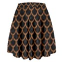 SCALES1 BLACK MARBLE & RUSTED METAL (R) High Waist Skirt View2