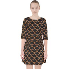 Scales1 Black Marble & Rusted Metal (r) Pocket Dress by trendistuff