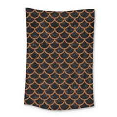 Scales1 Black Marble & Rusted Metal (r) Small Tapestry by trendistuff