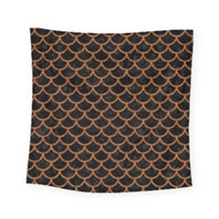 Scales1 Black Marble & Rusted Metal (r) Square Tapestry (small) by trendistuff