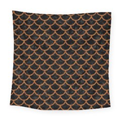 Scales1 Black Marble & Rusted Metal (r) Square Tapestry (large) by trendistuff