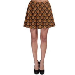 SCALES2 BLACK MARBLE & RUSTED METAL Skater Skirt