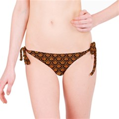 SCALES2 BLACK MARBLE & RUSTED METAL Bikini Bottom