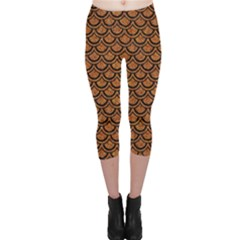 SCALES2 BLACK MARBLE & RUSTED METAL Capri Leggings